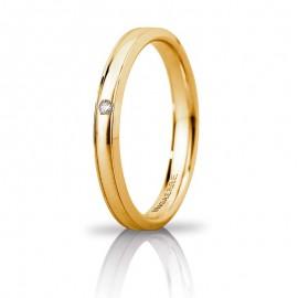 Orion Slim Oro giallo con diamante carati 0,01