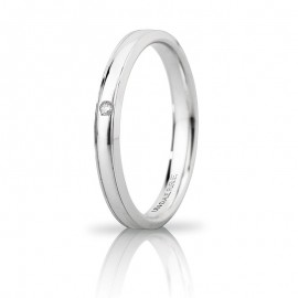 Orion Slim Oro bianco con diamante carati 0,01