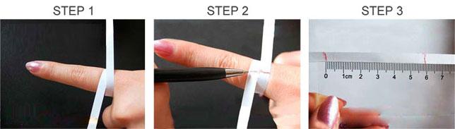 foto per misurare il dito
