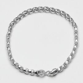 Bracciale in argento 925 rodiato maglia marina