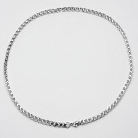 Collana in argento 925 rodiato maglia marina