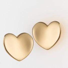 Orecchini cuore in oro giallo 750