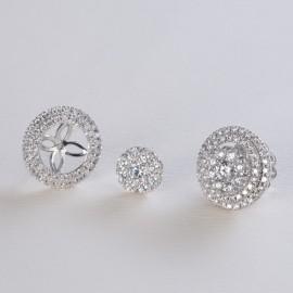Orecchini in oro bianco 750 e diamanti carati 1.86