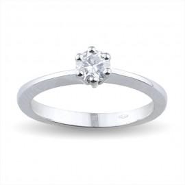 Solitario in oro bianco con diamante