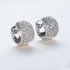 Orecchini in oro bianco 750 e diamanti carati 1.61