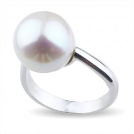 Anello con perla in oro 750