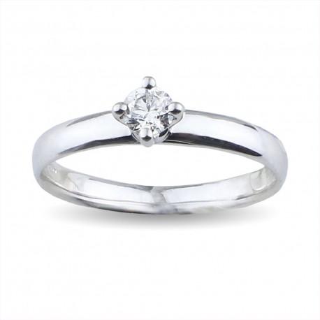 Solitario a forma di rombo con diamante carati 0.20 purezza VS colore D