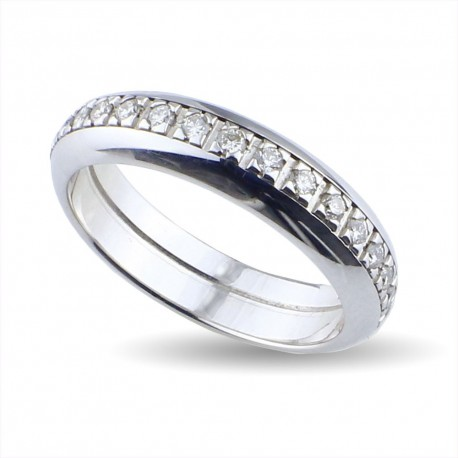 Eterné in oro bianco con diamanti
