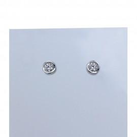Orecchini in oro bianco con diamanti carati 0.50 purezza VS colore G