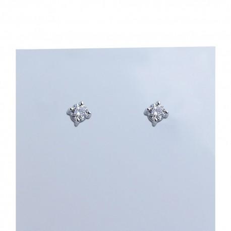 Orecchini in oro bianco e diamanti carati 0.44 purezza VS colore G