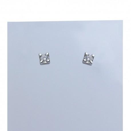 Orecchini in oro bianco con diamanti carati 0.26 purezza VS colore G.