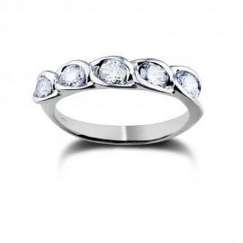 Riviere in oro bianco con diamanti