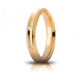 Fede UNOAERRE Corona Oro giallo 18k con diamante carati 0,02