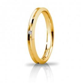 Fede UNOAERRE Corona Slim Oro giallo 18k con diamante carati 0,01