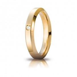 Fede UNOAERRE Hydra Oro giallo 18k con diamante carati 0,03