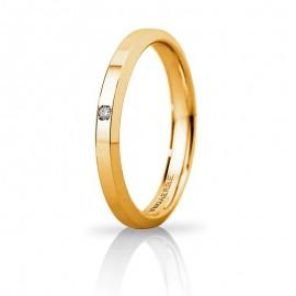 Fede UNOAERRE Hydra Slim Oro giallo con diamante carati 0,01