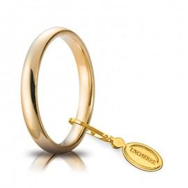 Fede UNOAERRE Comoda 3,0 mm Oro giallo 18k