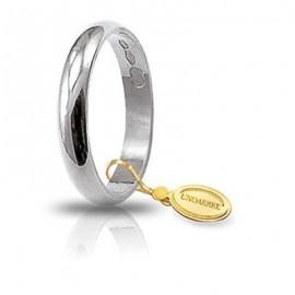 Fede UNOAERRE Classica gr 3,0 Oro bianco 3,4 mm