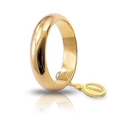 Fede UNOAERRE Classica gr 8,0 Oro giallo 4,6 mm