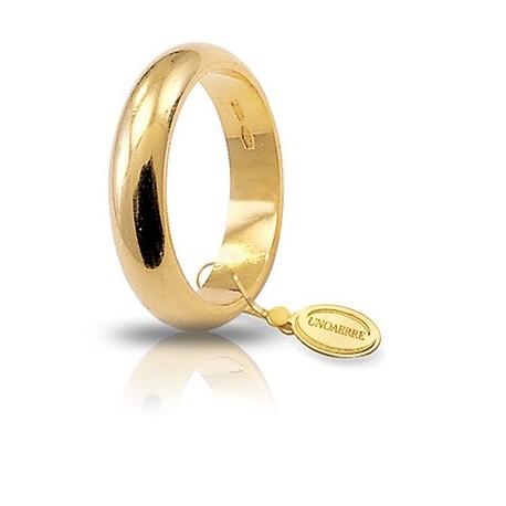 Fede UNOAERRE Classica gr 10,0 Oro giallo 5,1 mm