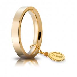 Fede UNOAERRE Cerchio di Luce 3,5 mm Oro giallo