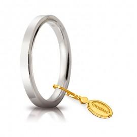 Fede UNOAERRE Cerchio di Luce 2,5 mm Oro bianco