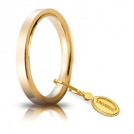 Fede UNOAERRE Cerchio di Luce 2,5 mm Oro giallo