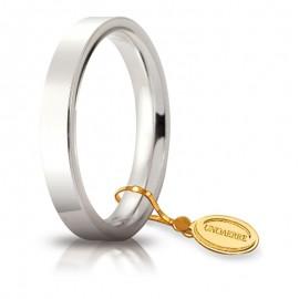 Fede UNOAERRE Cerchio di Luce 3,5 mm Oro bianco da gr 5,5 a 7,7