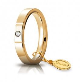Fede UNOAERRE Cerchio di Luce 3,5 mm Oro giallo con diamante carati 0,05