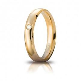 Fede UNOAERRE Orion in oro giallo con diamante carati 0,03