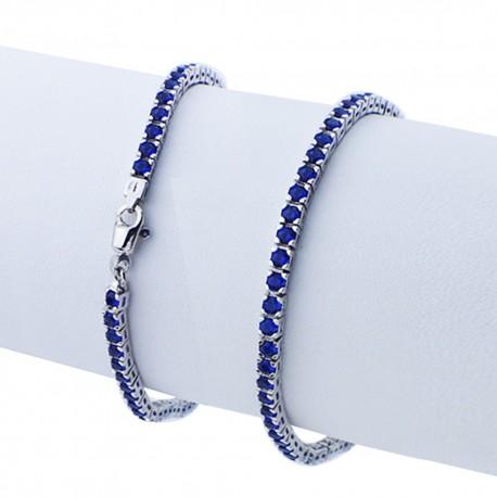 bracciale argento pietre nano cristal blu zaffiro