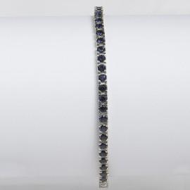 bracciale argento pietre nano cristal blu scuro