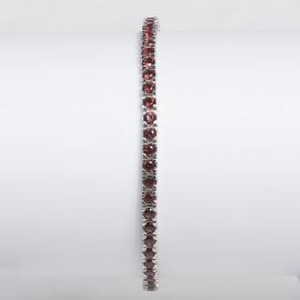 bracciale argento pietre nano cristal rosso granato