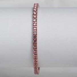 Bracciale tennis in argento 925 rosa con pietre nano cristal rosa