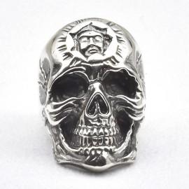 Anello teschio in argento 925