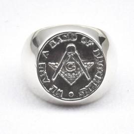 Anello simbolo compasso in argento 925