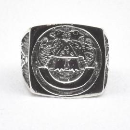 Anello stemma in argento 925.