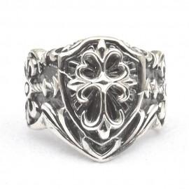 Anello scudo in argento 925