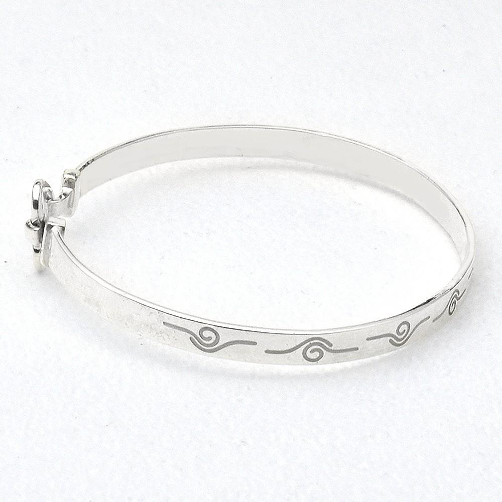 top design data di rilascio: 60% economico Bracciale rigido lamina mm 4 in argento 925 rodiato