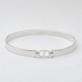 Bracciale rigido lamina mm 6 in argento 925 rodiato
