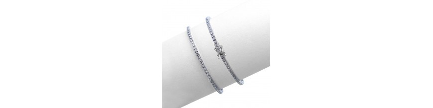 Bracciali tennis con diamanti