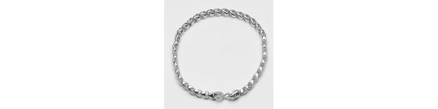 Bracciali maglia in argento