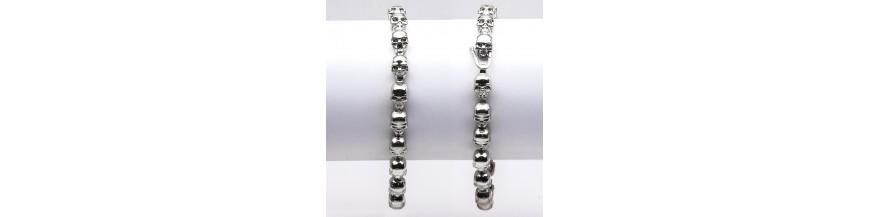 Bracciali teschi in argento